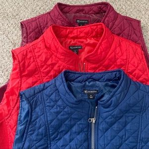 New Directions Quilted Vests set of 3